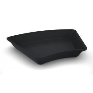 Plexi hoekschotel amfitheater DARK SMOKE - 265x265x45°x50mm