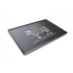 Plexi plateau DARK SMOKE - 300x200mm - The Cow