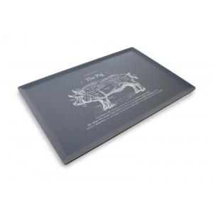 Plexi plateau DARK SMOKE - 300x200mm - The Pig