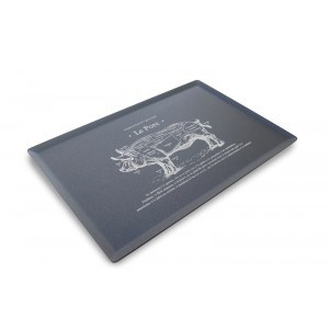 Plexi plateau DARK SMOKE - 300x200mm - Le Porc