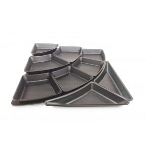 Plexi set amfitheater 1 - trap & 9 plateaus 50mm DARK SMOKE