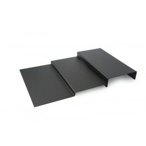 Plexi trap 3 treden DARK SMOKE - 500x800mm