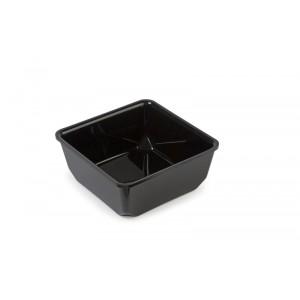 Plexi saladepot ZWART - 205x205x81mm - 2,5l