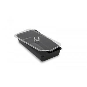 Plexi deksel met lepeluitsparing - 280x140mm (REN)