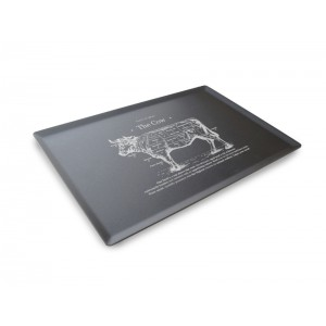 Plexi plateau DARK SMOKE - 300x200mm - The Cow
