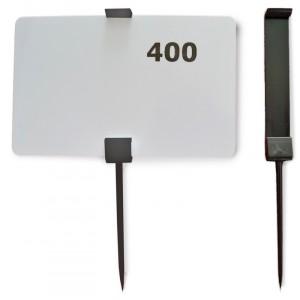 Pic plastique NOIR 110mm pour 54x86mm étiquette (50pc/sac)