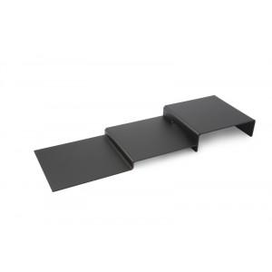 Plexi escalier 3 niveaux DARK SMOKE - 250x800mm