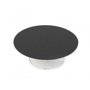 Plexi disque rond + fix. DARK SMOKE - Ø300mm