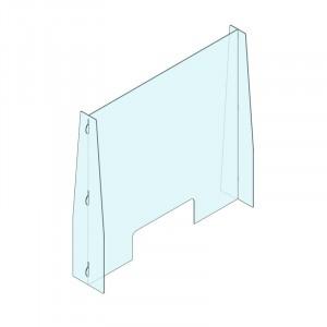 Plexi cloison avec ouverture dessous 1000x950mm *