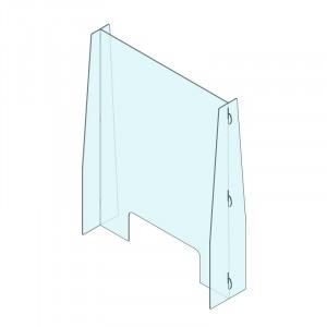 Plexi cloison avec ouverture dessous 720x950mm *