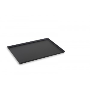 Plexi plateau DARK SMOKE - Edged - 400x300x15mm