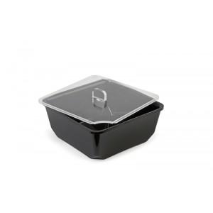 Plexi couvercle carré avec encoche cuillère - 180x180mm