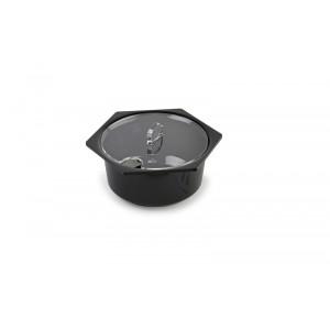 Plexi couvercle saladier rond/hex. 1,5l avec encoche cuillèr