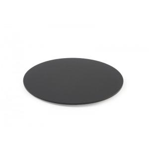Plexi disque rond + fix. DARK SMOKE - Ø250mm