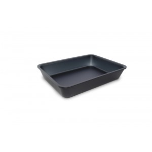 Plexi tray DARK SMOKE - 280x210x50mm