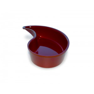 Plexi Yin Yang bowl BURGUNDY - 300x65mm