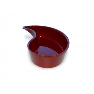 Plexi Yin Yang bowl BURGUNDY - 300x65mm