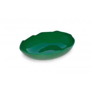Plexi egg shaped salad dish GREEN - 300x210x75mm