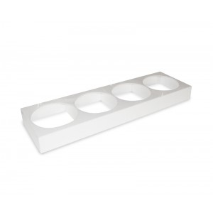 Plexi holder 4 sal. round/hexa 2,5l WHITE - 875x260x80mm