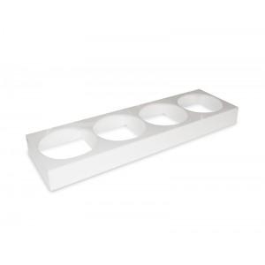 Plexi holder 4 sal. round/hexa 2,5l WHITE - 875x260x80mm