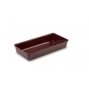 Plexi tray BURGUNDY - 280x140x50mm