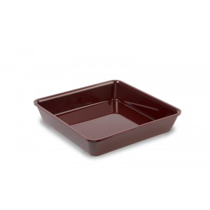 Plexi tray square BURGUNDY - 280x280x50mm