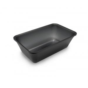 Plexi tray GN1/4 80 DARK SMOKE - 265x162x80mm