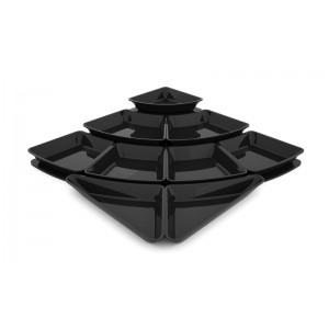 Plexi set amphitheater 1 - step & 9 trays 50mm  BLACK