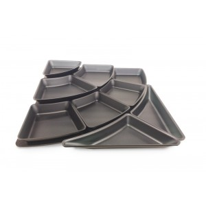 Plexi set amphitheater 1 - steps & 9 plates 50mm  DARK SMOKE
