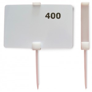 Spike plastic WHITE 110mm for 54x86mm label (50pc/bag)