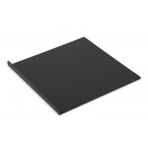 Plexi tray DARK SMOKE 300x300mm - 1 side folded 20mm