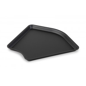 Plexi tray corner DARK SMOKE - 280x280x135°x20mm