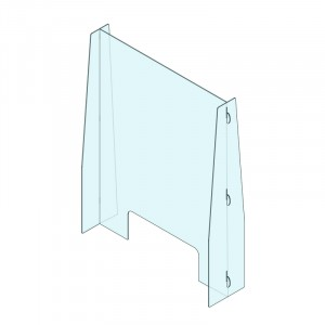 Plexi prevention screen with cutout 720x950mm *