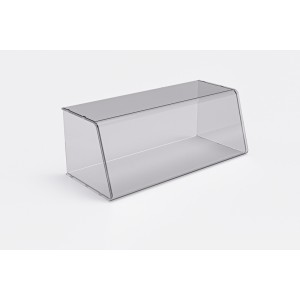 Plexi counter display- 660x250x290x5mm - removable side wall