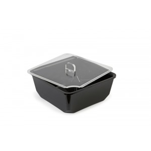 Plexi lid square with spoon recess - 180x180mm
