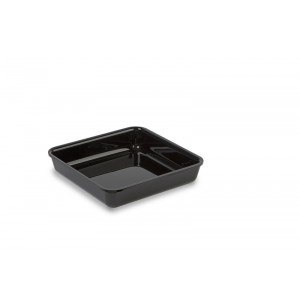 Plexi tray BLACK - 190x190x40mm