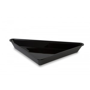 Plexi triangle large deep BLACK - 375x375x515x50mm