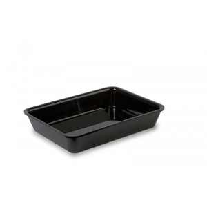 Plexi tray BLACK - 280x210x50mm
