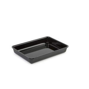 Plexi tray BLACK - 260x190x40mm