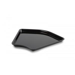 Plexi plate corner BLACK - 280x280x135°x20mm