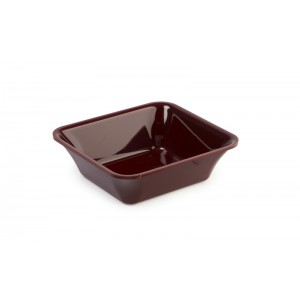 Plexi tray GN 1/6 50 BORDEAUX - 176x162x50mm