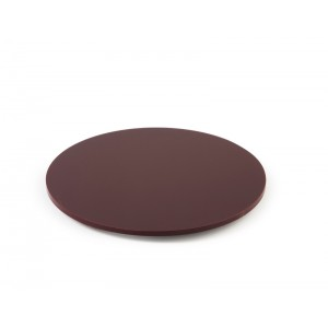 Plexi disk round + fixation BURGUNDY - Ø250mm