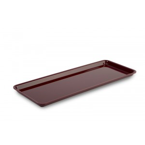 Plexi plate GN 2/5 17 BORDEAUX - 530x200x17mm