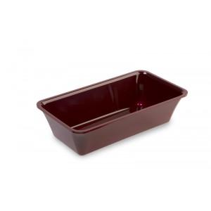 Plexi tray GN 1/3 80 BORDEAUX - 325x176x80mm