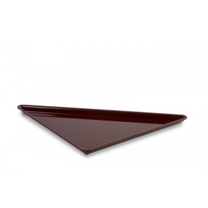 Plexi triangle large BORDEAUX - 400x400x565mm