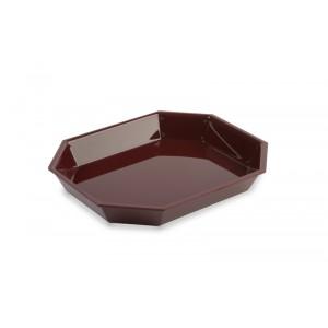 Plexi salad dish octo BORDEAUX - 325x265x45mm