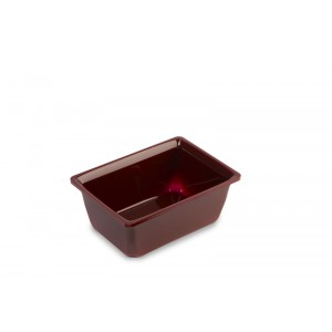 Plexi salad dish rect. 1l BORDEAUX - 214x153x85mm