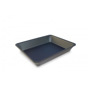 Plexi tray GN 1/2 50 DARK SMOKE- 325x265x50mm