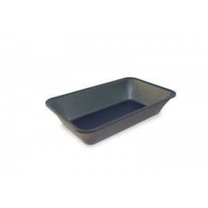 Plexi tray GN 1/4 50 DARK SMOKE- 265x162x50mm