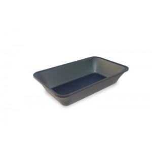 Plexi tray GN 1/4 50 DARK SMOKE- 265x162x50mm